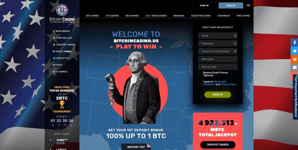 bitcoincasino.us website screen