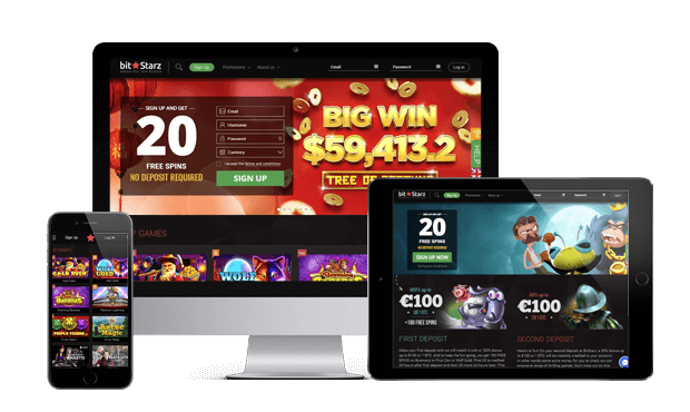 bitstarz casino website screens