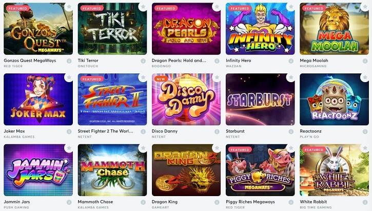 bitcasino games