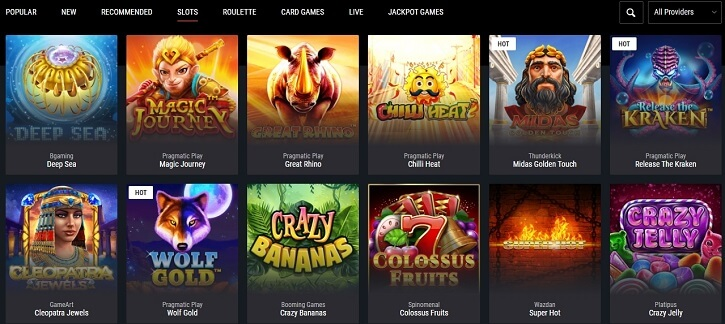 cobra casino games