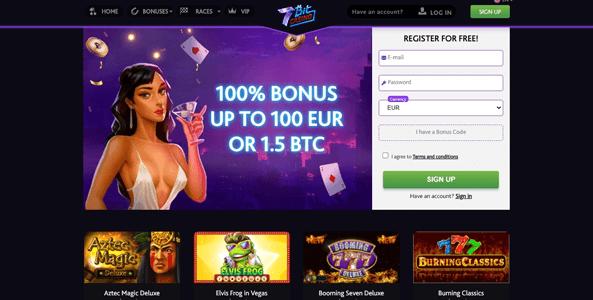 7bitcasino website screen