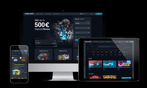 thunderpick website screens