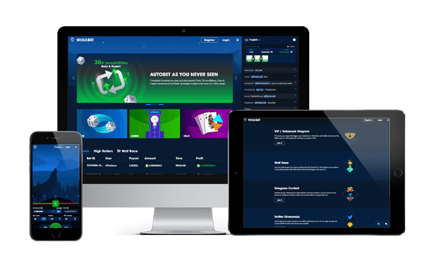 wolfbet website screens