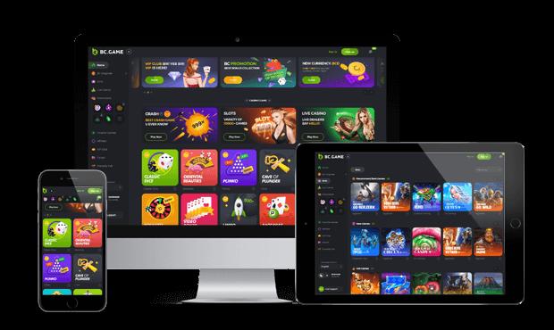 bcgame website screens