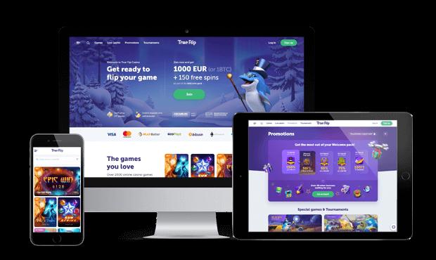 trueflip casino website screens