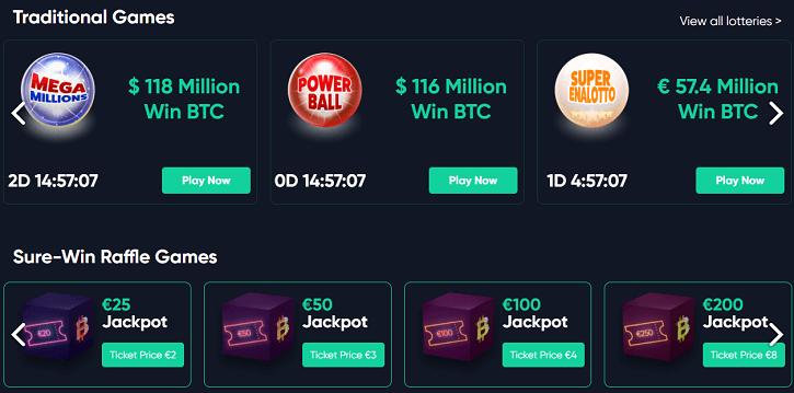 bitcoin.com casino lottery