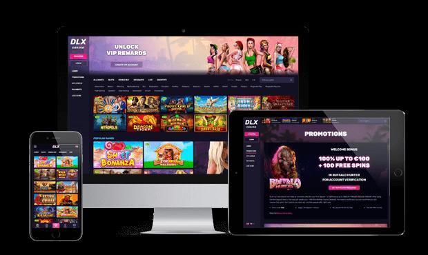 dlx casino website screens