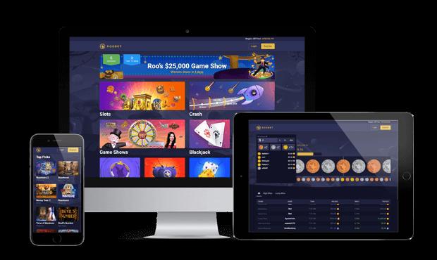 roobet casino website screens