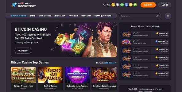 rocketpot casino website screen