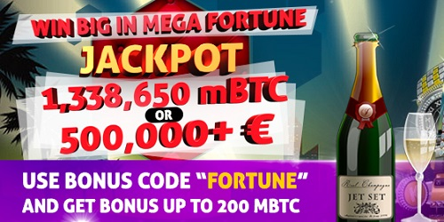 bitcasino.io biggest jackpot fortune promo