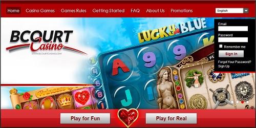 bcourt casino welcome bonus