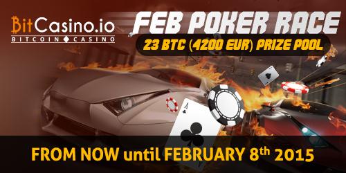 bitcasino.io february rake poker race