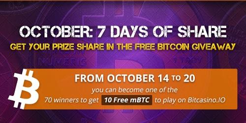 bitcasino.io seven days of share promo