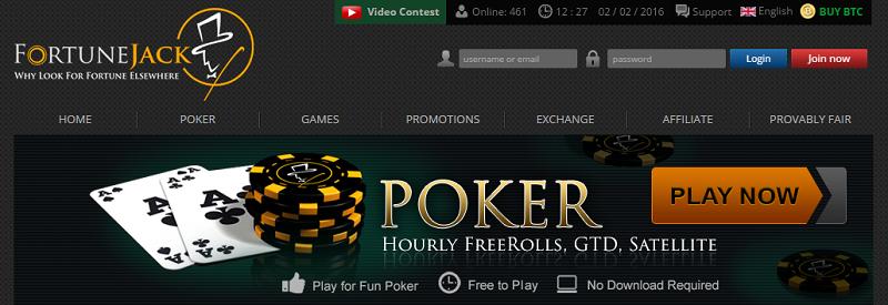 FortuneJack poker website review