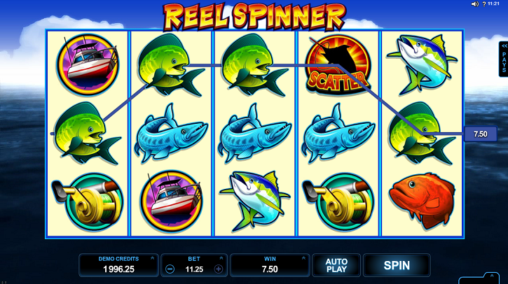 Reel Spinner slot screen