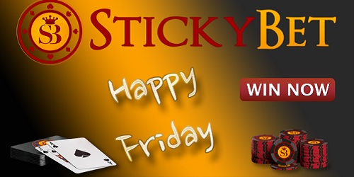 stickybet casino happy friday bonus