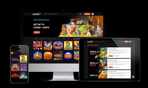 levelup casino website screens