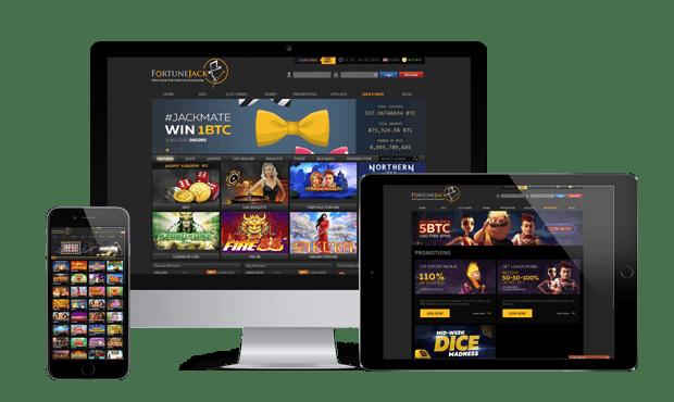 fortunejack casino website screens