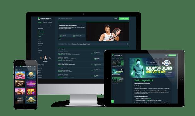 sportsbet.io website screens