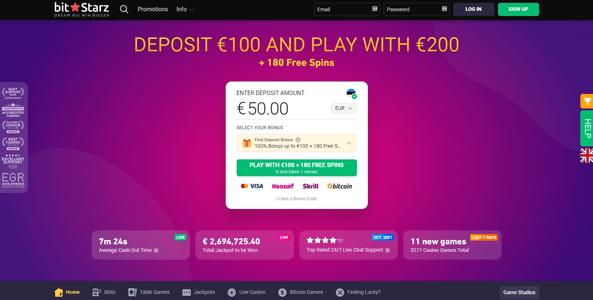 bitstarz casino website screen eng