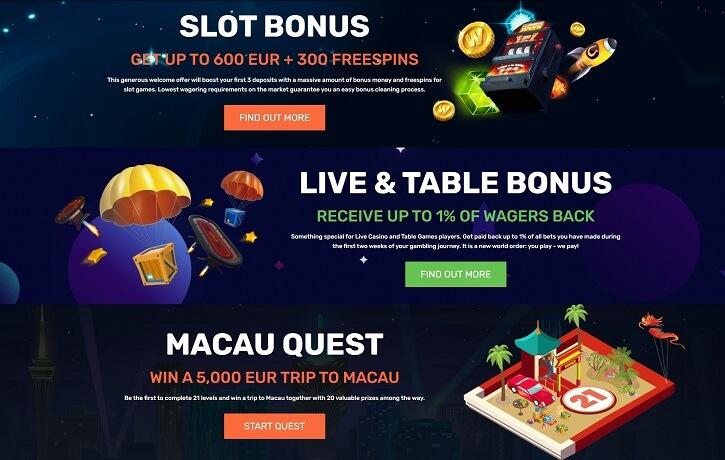 winz casino bonuses promotions