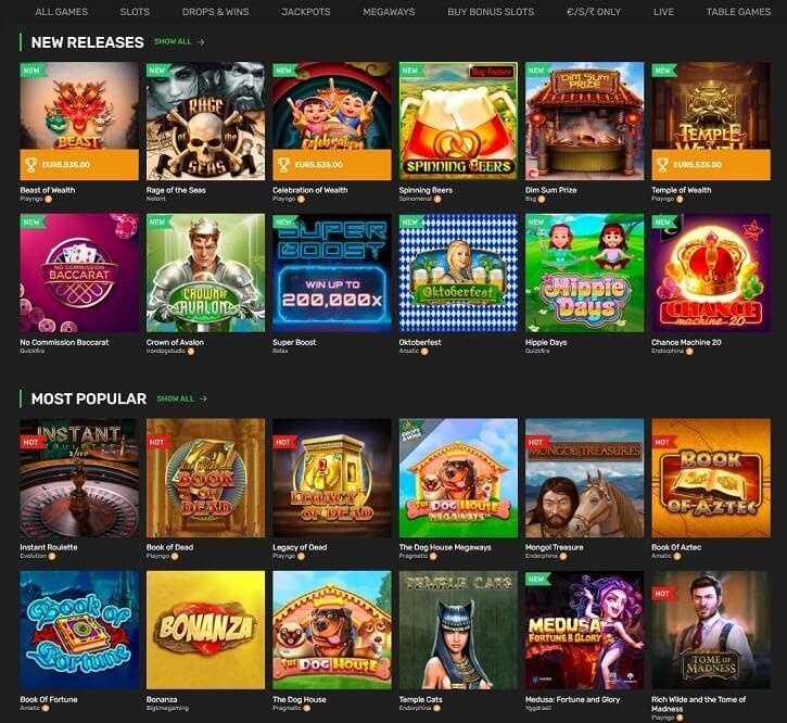 winz casino games slots