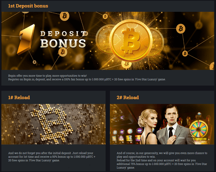 bspin casino promotions