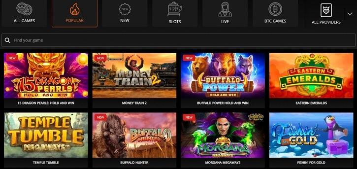televega casino games