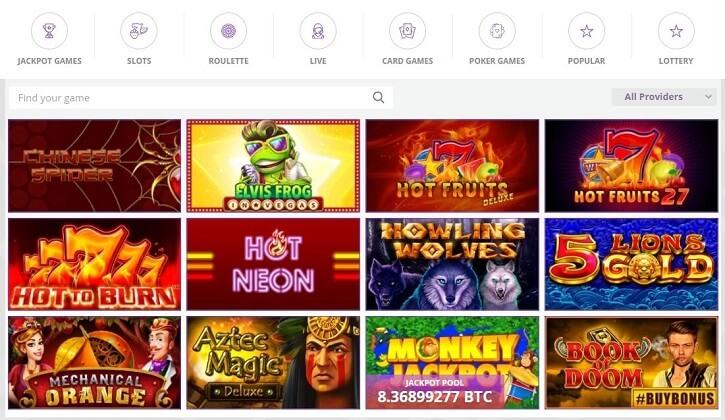 cryptowild casino games