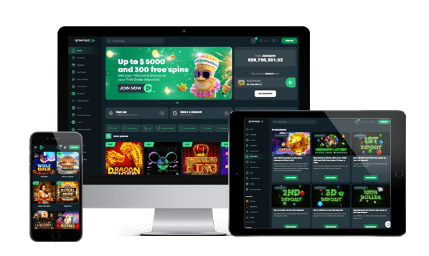 greenspin website screens