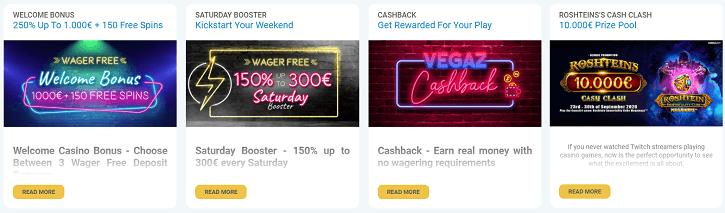 vegazcasino promotions