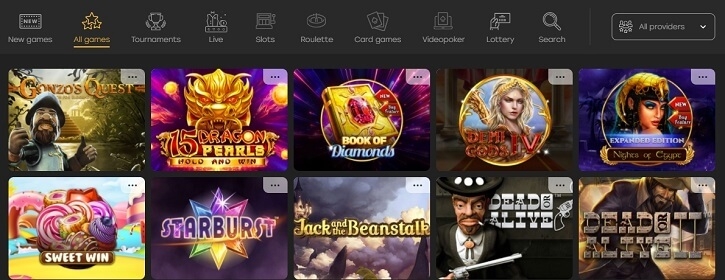 fairspin casino games