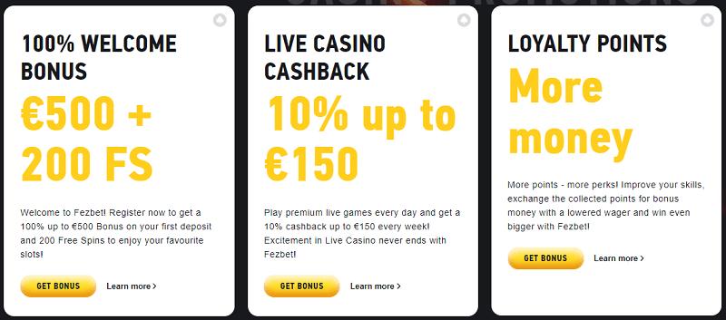 fezbet casino bonuses promotions