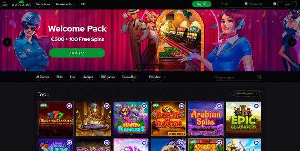 katsubet casino website screen