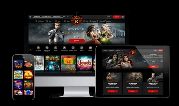 kingdom casino website screens
