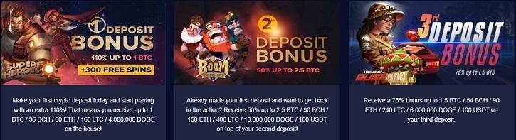 mbit casino welcome deposit bonuses