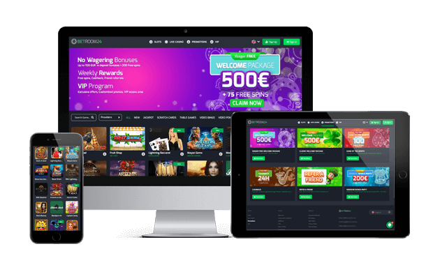 betroom24 casino website screens