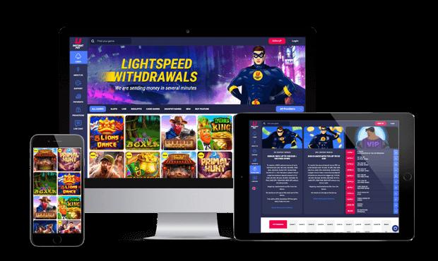 instantpay casino website screens