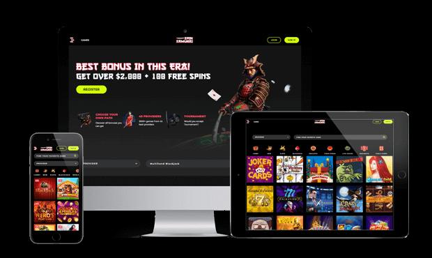 spinsamurai casino website screens