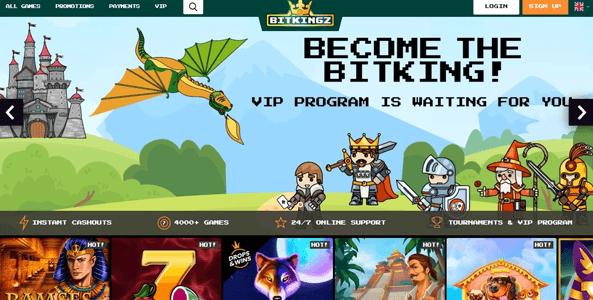 bitkingz casino website screen