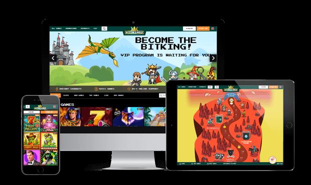 bitkingz casino website screens