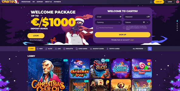 casitsu casino website screen