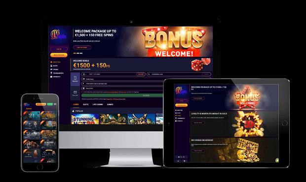 jvspin casino website screens