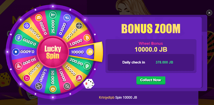 bcgame lucky daily spin