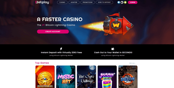 betplay casino website screen