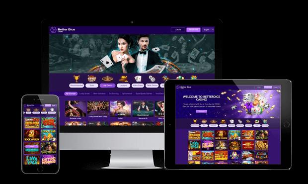 betterdice casino website screens