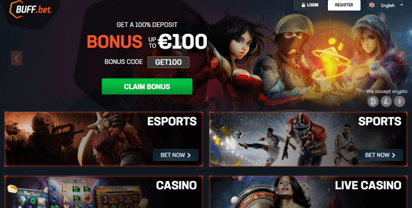 buffbet website screen
