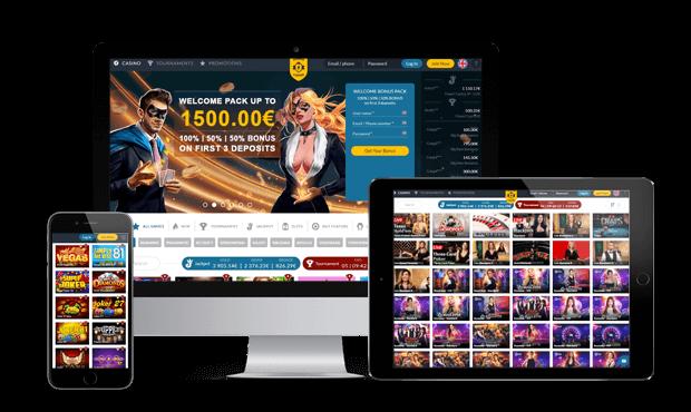 powercasino website screens