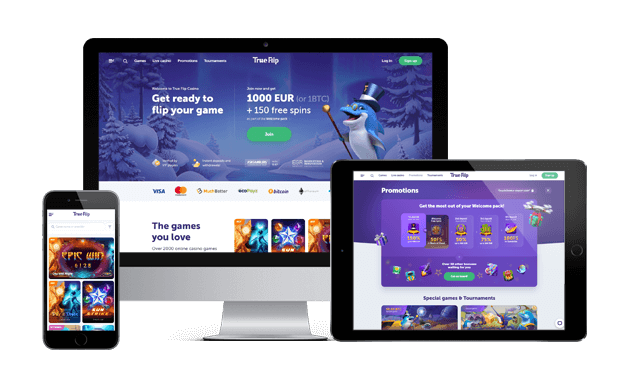 trueflip casino website screens