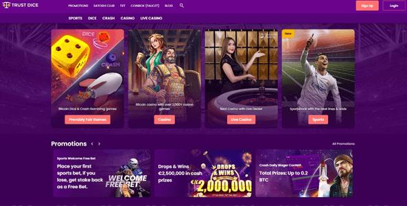 trustdice website screen